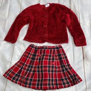The Children's Place 4T Cardigan Sweater and Skirt